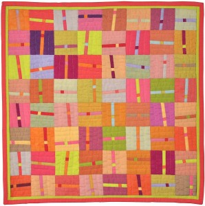"Connections (16"" x 16"") by Alex Anderson; sold at the AAQI Celebrity Quilt Auction"