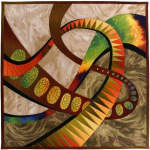 "Midnight Fantasy (16"" x 16"") by Caryl Bryer Fallert; sold at the AAQI Celebrity Quilt Auction"