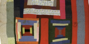 Housetop and Bricklayer blocks with bars; c. 1955; made by Lucy T. Pettway;