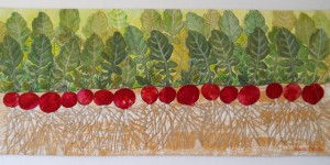 Radish Row, made by Valerie White, 2009, www.valeriecwhite.com; appears in the documentary Why Quilts Matter: History, Art & Politics, Episode 4: What is Art?