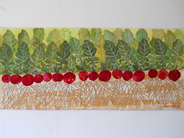 Radish Row, made by Valerie White, 2009, www.valeriecwhite.com