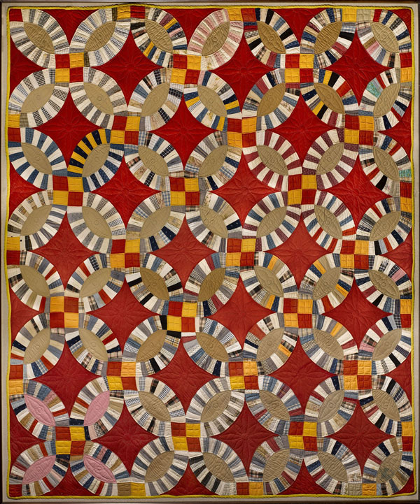 Double Wedding Ring Quilt. Maker Unknown. c. 1930–1940. American Folk Art Museum, New York, New York.