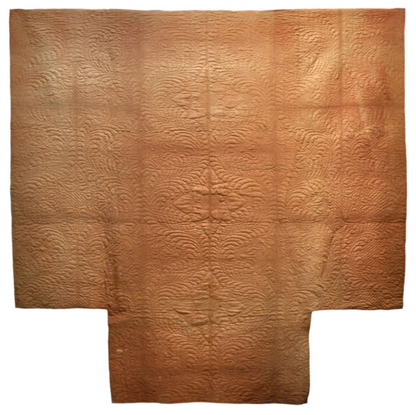 Wholecloth quilt, c. 1790, New England - Maker Unknown