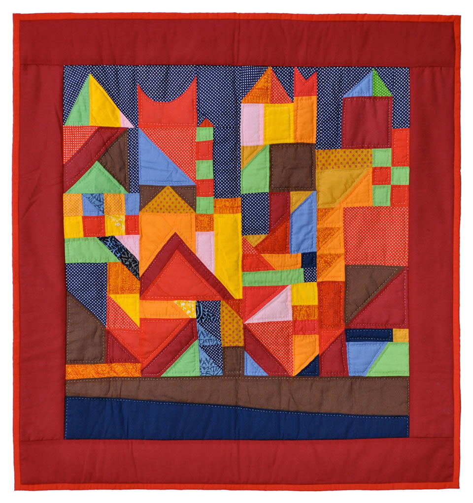 Klee (1973) - quilt by Marsha McCloskey
