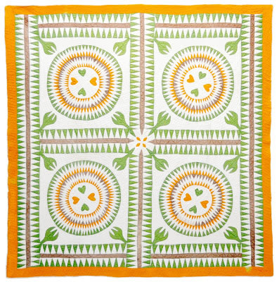 Quilt from the Bill Volckening New York Beauty Quilt Collection