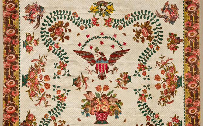 Elizabeth Welsh of Virginia, Medallion Quilt, ca. 1830