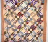 Double Wedding Ring, made by Lureca Outland, Greene County, Alabama, circa 1985-1995, 85 x 75 in. International Quilt Study Center & Museum, Robert and Helen Cargo Collection 2000.004.0102