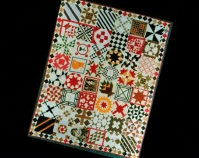 Sampler Quilt with Santa Claus printed square Maker unknown c. 1880 Photo by Geoffrey Carr Formerly in the collection of Shelly Zegart