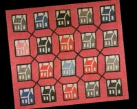 Log Cabin House in Garden Maze Maker unknown c. 1890-1900 Item number 1991.11-3112 New England Quilt Museum  Lowell, Massachusetts www.nequiltmuseum.org More info at www.quiltindex.org