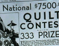 Advertisement for quilt contest Chicago Tribune January 6, 1933 Shelly Zegart Archives
