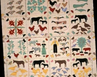 A Curiosity Bedspread Avery Burton 1935  From The American Quilt, Roderick Kiracofe,  Clarkson Potter, 2004 Photo by Sharon Risedorph Courtesy of Roderick Kiracofe