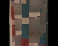 Blocks and strips work-clothes quilt Missouri Pettway Cotton, corduroy, cotton sacking 90