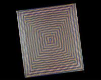 "Spectrum George W. Yarrall 1935 Cotton percale 78 ½\"" x 90 ¾\"" Item number KM 1985.88.1 Kentucky Library & Museum Western Kentucky University Bowling Green, Kentucky www.wku.edu/Library/kylm"
