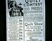 Quilt contest advertisement Shelly Zegart Archives