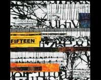 "Fifteen Karen Stiehl Osborn 2010 Hand-painted and dyed cotton, canvas, dye, acrylic paint 15\"" x 15\"" www.karenstiehlosborn.com"