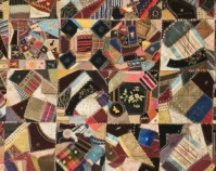 Crazy Quilt Maker unknown c. 1899 Silks, satins, velvets 62