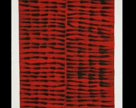 "Markings #9: Compromise Nancy Crow 2006-2007 Cotton, hand-quilted by Maria Hattabaugh 40 ½"" x 42\"" Photo by J. Kevin Fitzsimons Nancy Crow: Recent and New Work exhibition May 29 - August 15, 2010 Schweinfurth Memorial Art Center Auburn, New York www.schweinfurthartcenter.org www.nancycrow.com"
