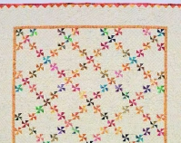 "Pinwheels and Feathers Alex Anderson 56 ½"" x 56 ½\"" From Beautifully Quilted with Alex Anderson C&T Publishing, 2003 Concord, California Courtesy of C&T Publishing"