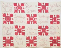 "Celebrity Quilt Vadis Turner 2007 Antique cotton, embroidery thread 60\"" x 48\"" www.vadisturner.com"