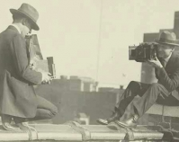 Two photographers taking each others\' pictures Between 1909 and 1932 Library of Congress Prints & Photographs Division National Photo Company Collection Washington, D.C. Item number LC-DIG-ppmsca-13703 www.loc.gov/pictures
