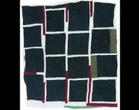 "Blocks and Strips Annie Mae Young c. 1970 Cotton, polyester, synthetic blends 83"" x 80\"" From Gee\'s Bend: The Architecture of the Quilt Paul Arnett, Tinwood Books, 2006  Courtesy of Matt Arnett Photo by Pitkin Studio"
