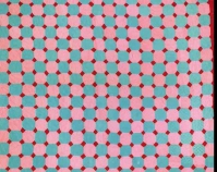 "Snowball variation Sarah Benning 1949 or 1950 Cotton, velveteen, synthetics 101"" x 85"" From Gee's Bend: The Architecture of the Quilt Paul Arnett, Tinwood Books, 2006  Courtesy of Matt Arnett Photo by Pitkin Studio"