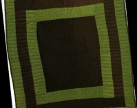 "Housetop Mary L. Bennett 1970s, quilted in 2002 Corduroy 81"" x 74"" From Gee's Bend: The Architecture of the Quilt Paul Arnett, Tinwood Books, 2006  Courtesy of Matt Arnett Photo by Pitkin Studio"
