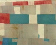 "Blocks and Strips work-clothes quilt Missouri Pettway 1942 Cotton, corduroy, sacking material 90"" x 69"" From The Quilts of Gee's Bend Tinwood Books, 2002 Courtesy of Matt Arnett"