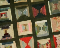 "Bricklayer – sampler variation Loretta Pettway 1958 Cotton and corduroy 82"" x 78\"" From Gee\'s Bend: The Architecture of the Quilt Paul Arnett, Tinwood Books, 2006  Courtesy of Matt Arnett Photo by Pitkin Studio"