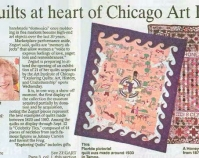 Zegart quilts at heart of Chicago Art Institute Show The Courier-Journal March 14, 2004  Courtesy of Shelly Zegart
