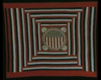 Medallion Style Political Quilt Maker unknown Cotton Photo by Geoffrey Carr Formerly in the collection of Shelly Zegart