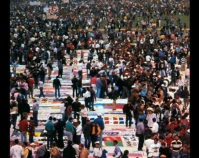 Aids Quilt on the Mall Public domain