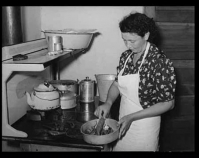 Woman cooking 1939 Photo by Russell Lee Library of Congress Prints & Photographs Division  Farm Security Administration Office of War Information Washington, D.C. Item number LC-USF34-034218-D www.loc.gov/pictures