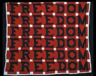 "Freedom Quilt Jessie B. Telfair  1983 Cotton  74"" x 68"" Photo by Geoffrey Carr Formerly in the collection of Shelly Zegart"