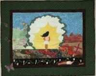 """Finally at…Peace Christina Carlos 2009 Cotton 28 ½ """" x 23 ¼ """""""
