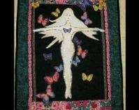 "Forgive Them Lord Maria Herrera 2009 Cotton 19 ½"" x 25"""