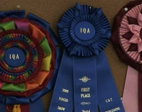 Award ribbons American Quilter's Society Show and Contest B-roll by Alan Miller American Quilter's Society  Paducah, KY www.americanquilter.com
