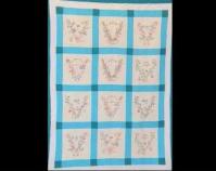 """Victory Garden  Maker unknown World War II Cotton 75"""" x 100"""" Courtesy of Sue Reich"""