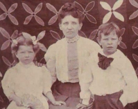 Historic photograph of a woman with her two children In upcoming book by Janet E. Finley Schiffer Publishing, Atglen, Pennsylvania; late 2012 Collection of Janet E. Finley