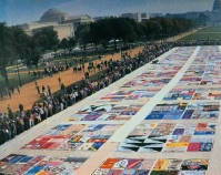 Aids Quilt Project on the Mall Washington, DC Public domain