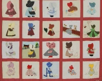 "Sunbonnet Girl Heritage Various quilt-makers 1980 Cotton or polyester blend 96"" x 96"" Item number PQ.2002.018.001 Rocky Mountain Quilt Museum Golden, Colorado www.rmqm.org More info at www.quiltindex.org"