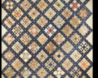 "Ohio Star (detail) Maker unknown 1860 - 1880 Cotton or calico, muslin 95 "" x 106 "" Item n umber 1983.157 The Charleston Museum Charleston, Sou th Carolina www.charlestonmuseum.org"