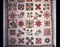 Sampler Quilt Maker unknown c. 1840 Cotton Photo by Geoffrey Carr Formerly in the collection of Shelly Zegart