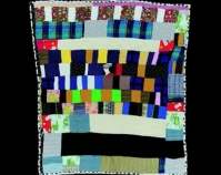 "Piano Quilt Idabell Bester c. 1980 Knit 71 "" x 61 "" Item number 2000.004.0014 Robert and Helen Cargo Collection The International Quilt Study Center & Museum University of Nebraska - Lincoln Lincoln, Nebraska www.quiltstudy.org"