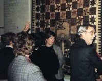 Viewing a quilt exhibition 1983 The Kentucky Quilt Project Archives