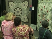 Quilts on display B-roll by Alan Miller