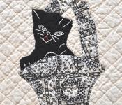 Kitty Kat Kwilt Detail