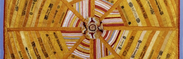 Cigar Band Quilt - Maker unknown (c. 1880-1890)