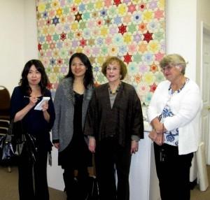 Vistors from Japan in Louisville's Quilt Shoppe