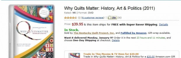 Why Quilts Matter: History, Art & Politics on Amazon.com